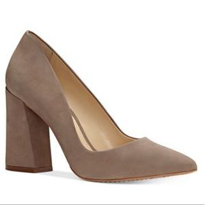 VINCE CAMUTO Talise Pointed Block Heel Pumps
